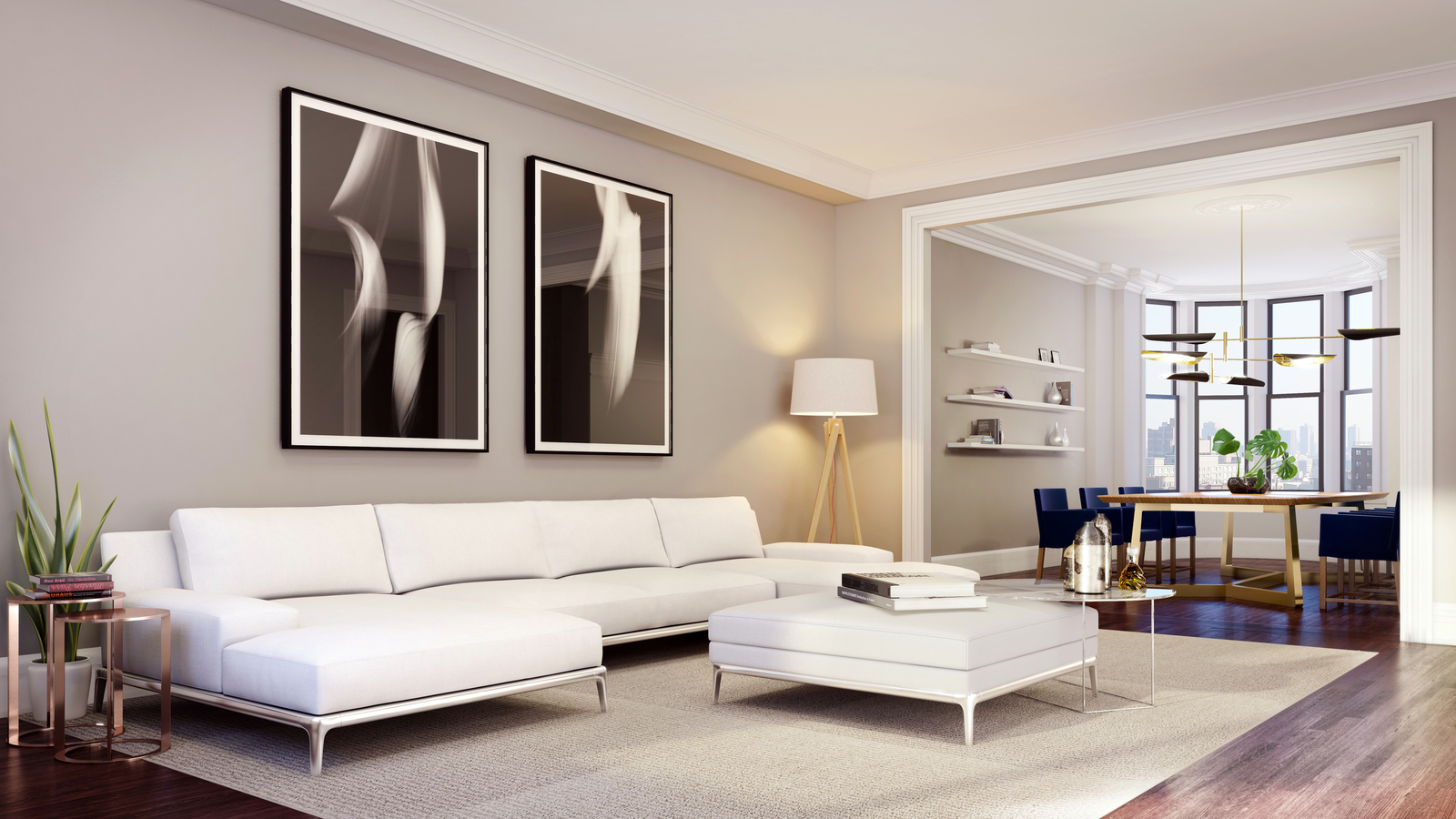 Half floor corner 3BR, 2.5 BA w/ Gorgeous Details!
